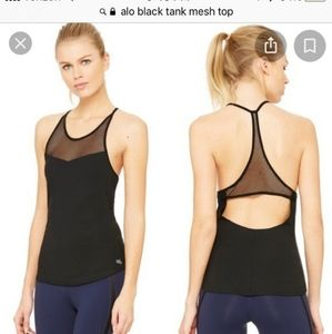 Alo Yoga Mesh Black Tank top